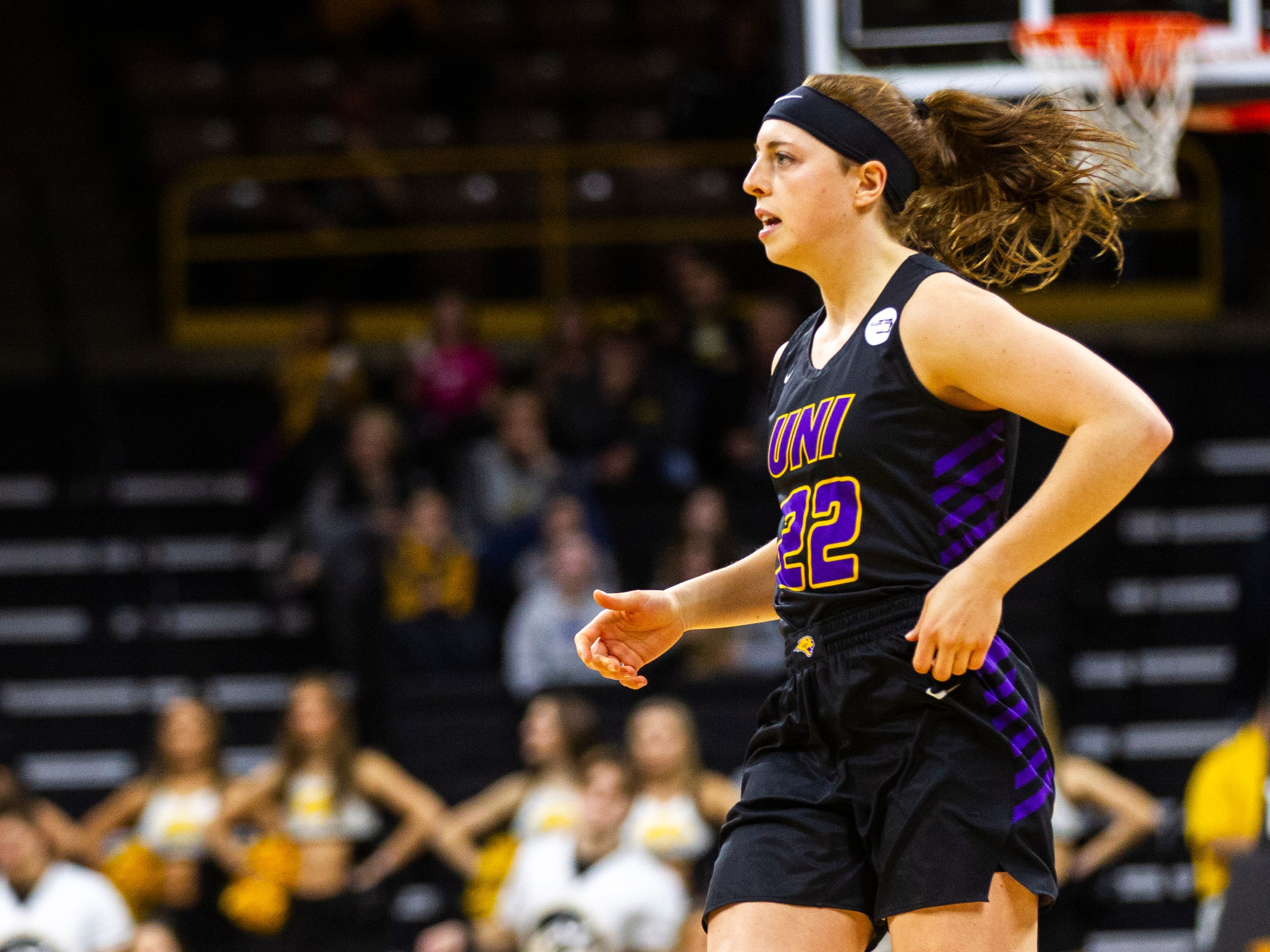 Northern Iowa guard Rose Simon-Ressler (22) is seen during a NCAA women's basketball game on Sunday, Dec. 16, 2018, at Carver-Hawkeye Arena in Iowa City.