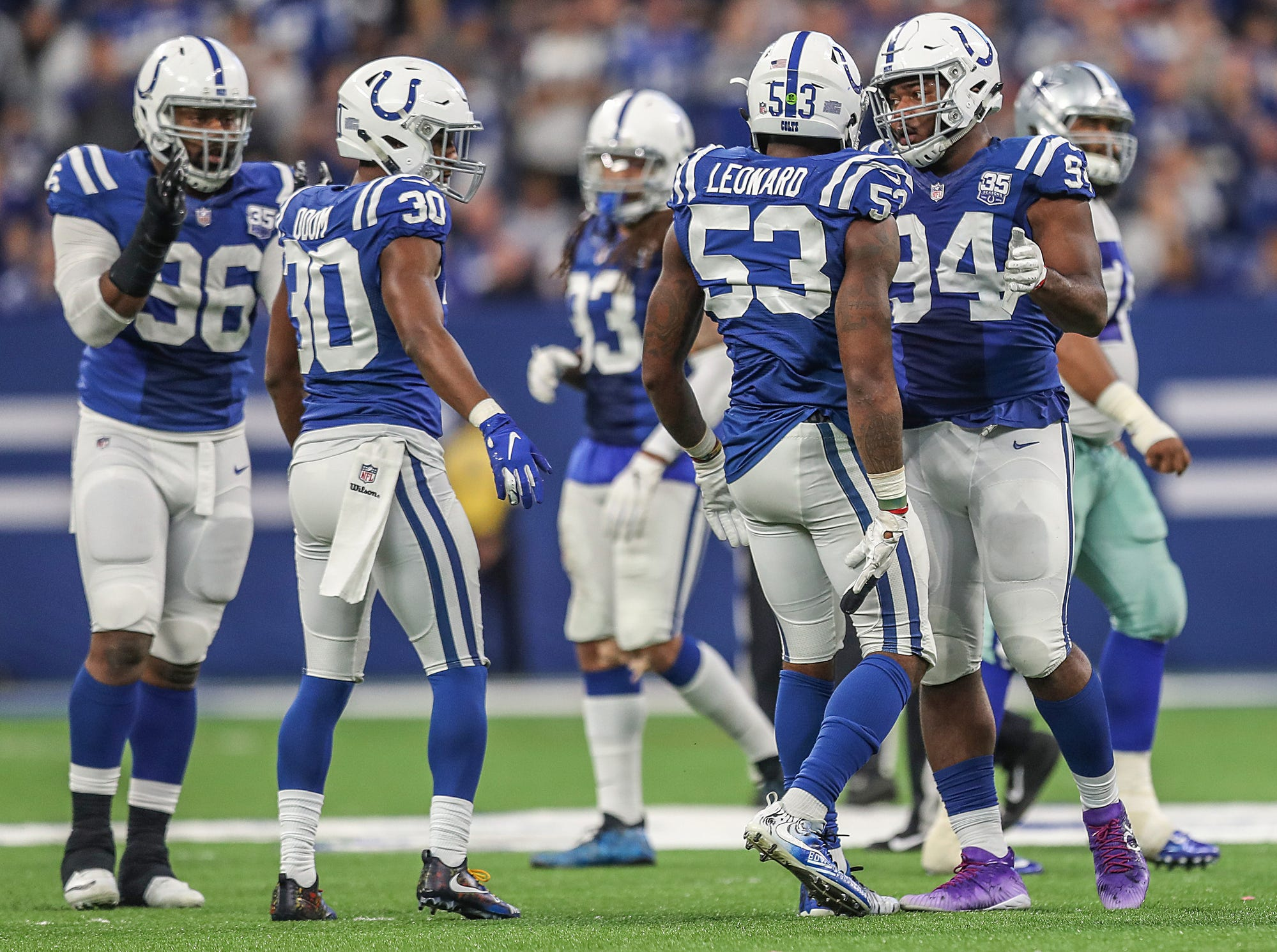 in the second half of the game at Lucas Oil Stadium in Indianapolis, Sunday, Dec. 16, 2018. The Colts won, 23-0.