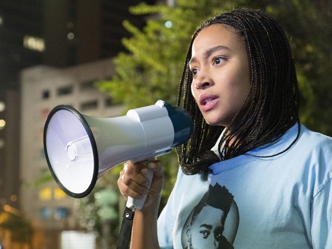 "Amandla Stenberg portrays an activist in ""The Hate U Give."""