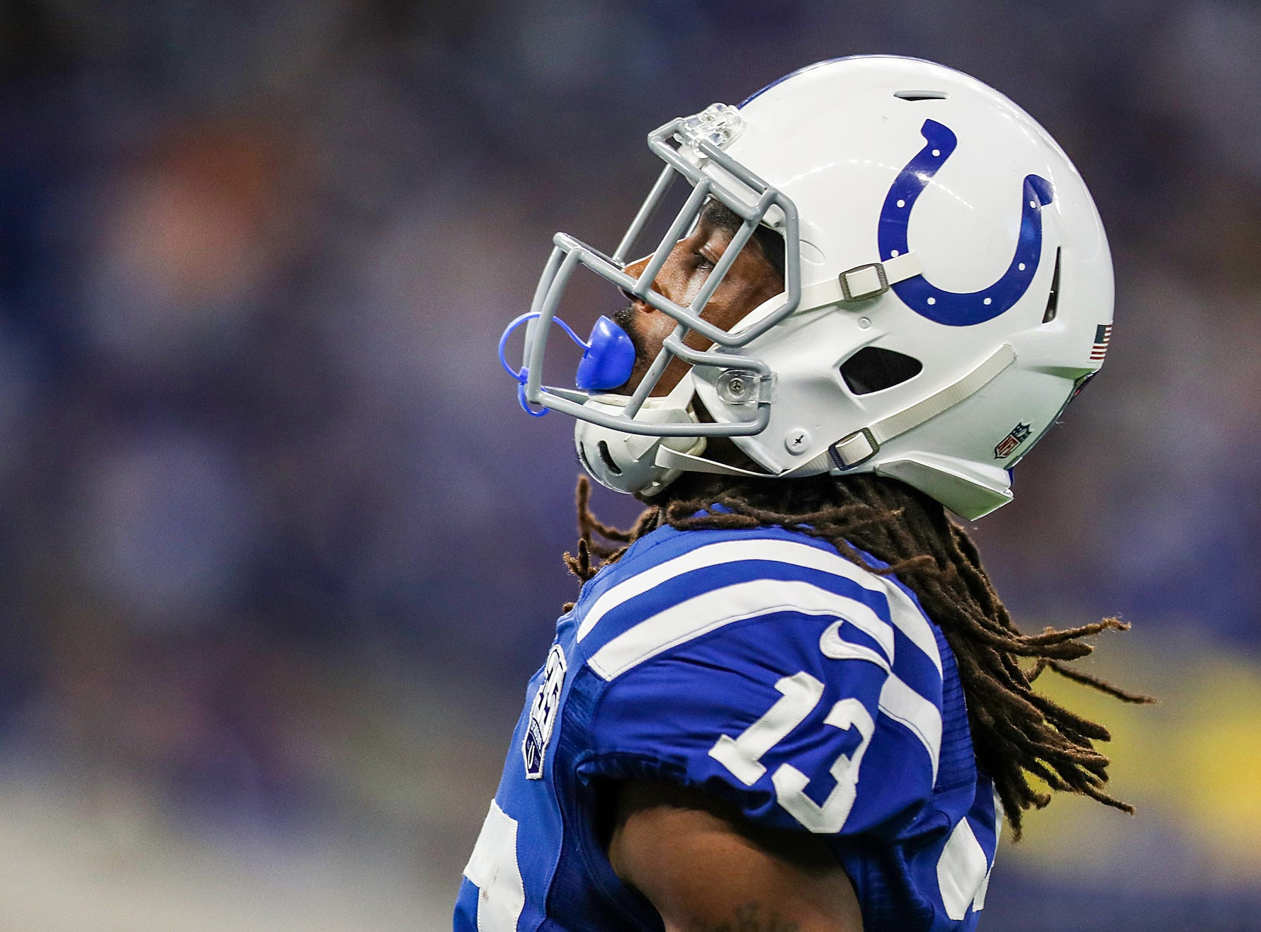 Indianapolis Colts wide receiver T.Y. Hilton (13) during the second half of the game at Lucas Oil Stadium in Indianapolis, Sunday, Dec. 16, 2018.