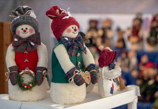Plush dolls for sale at the Christkindl Village sponsored by St. John the Evangelist Catholic Church, Indianapolis, Sunday, Dec. 16, 2018. The exhibit and marketplace ran from Friday the 14th through the weekend.