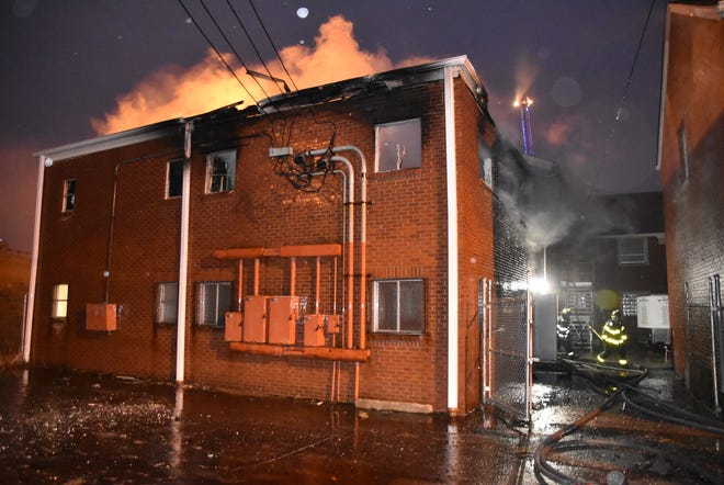 A fire broke out after a Boy Scouts meeting at New Bethel Missionary Baptist Church