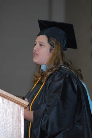 Laurie Johnson is the Valedictorian of Tusculum University's class of 2018, the first graduating class since it became a university instead of a college.