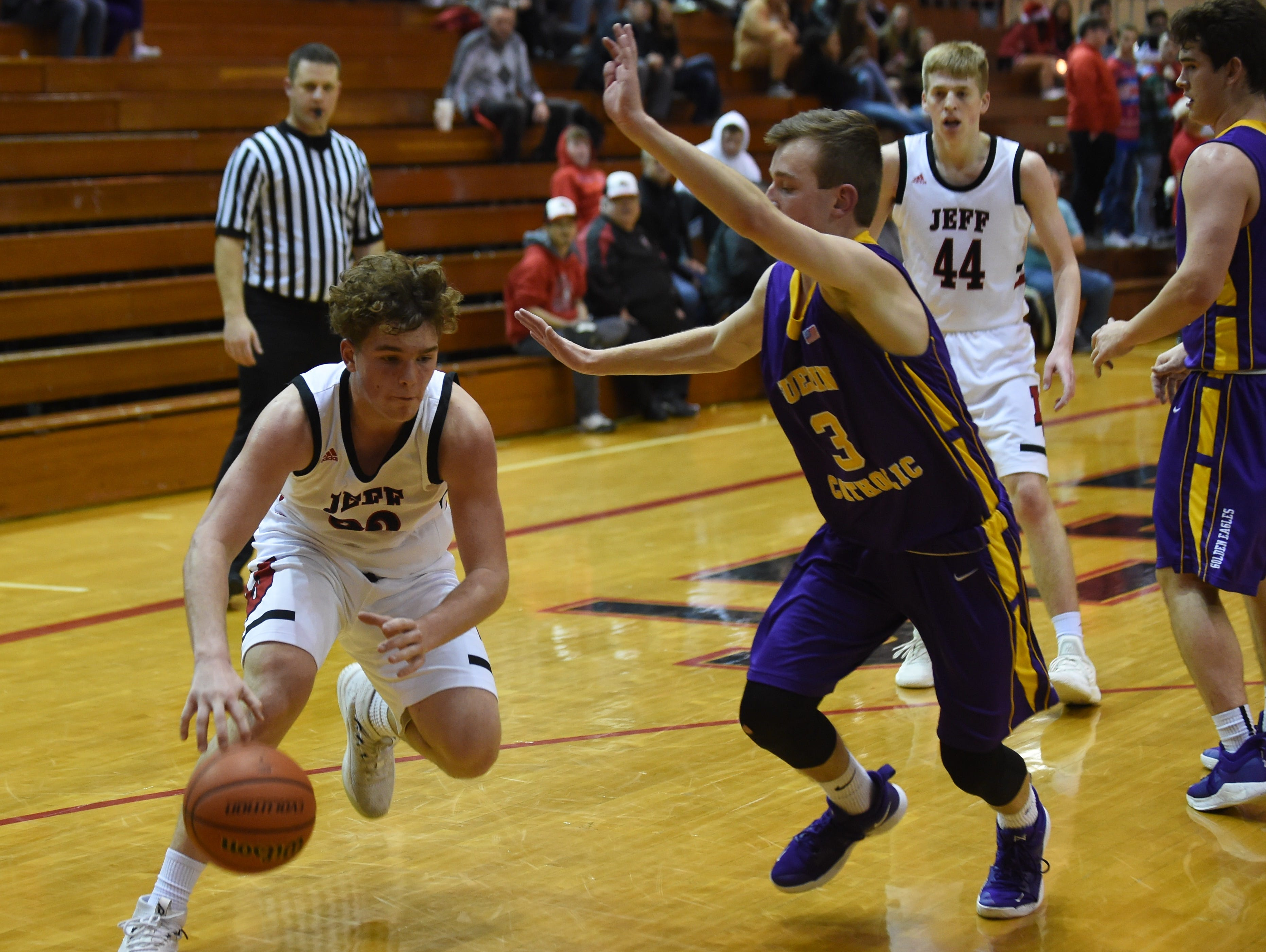 Scenes from Saturday night as the Bronchos battled the Golden Eagles of Guerin Catholic. Ashton Beaver.