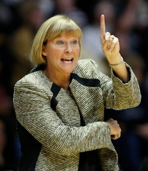 Sharon Versyp became Purdue's Big Ten women's basketball victories leader Friday.
