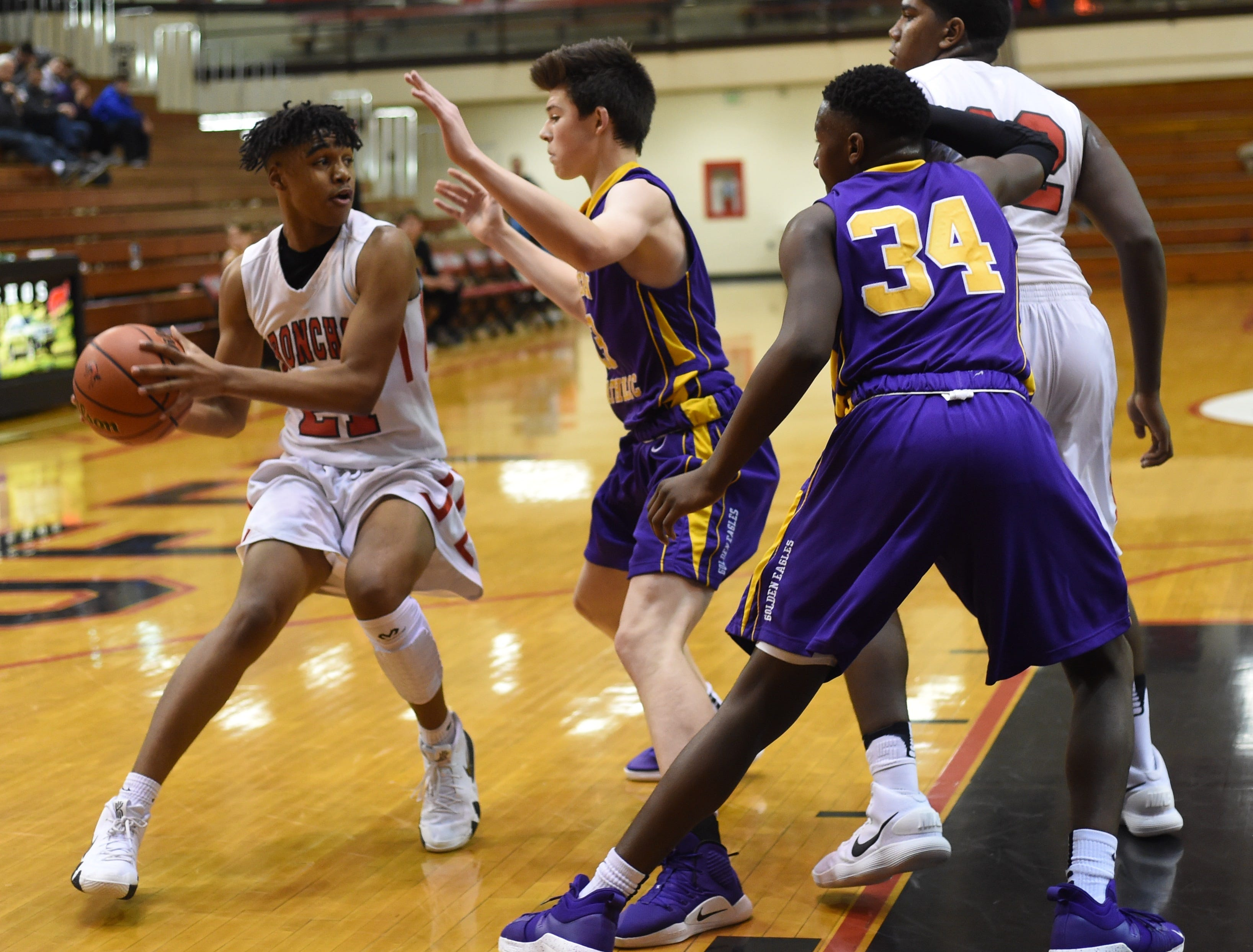 Scenes from Saturday night as the Bronchos battled the Golden Eagles of Guerin Catholic.