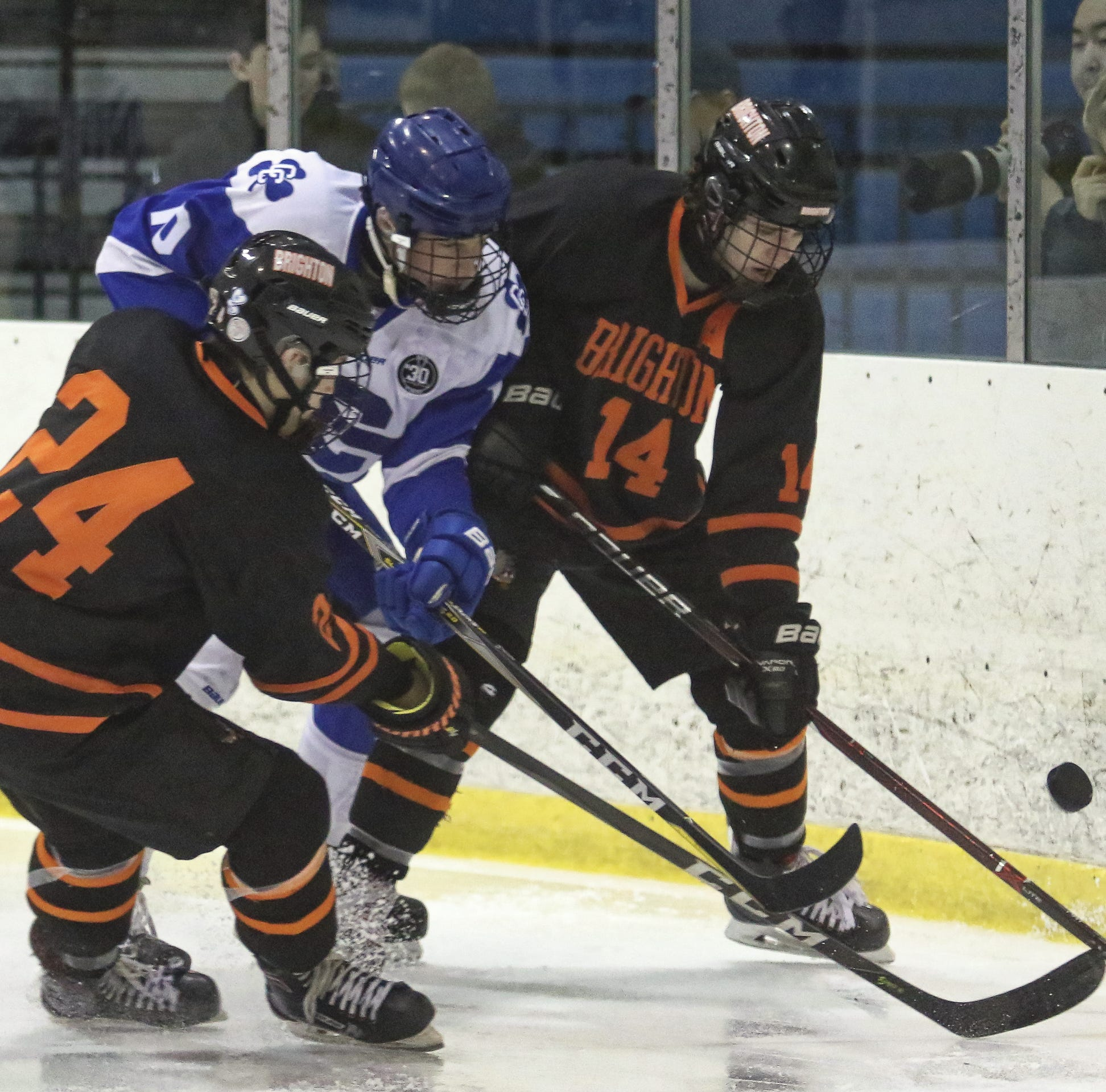 Detroit Catholic Central wins hockey showdown with Brighton, 4-1
