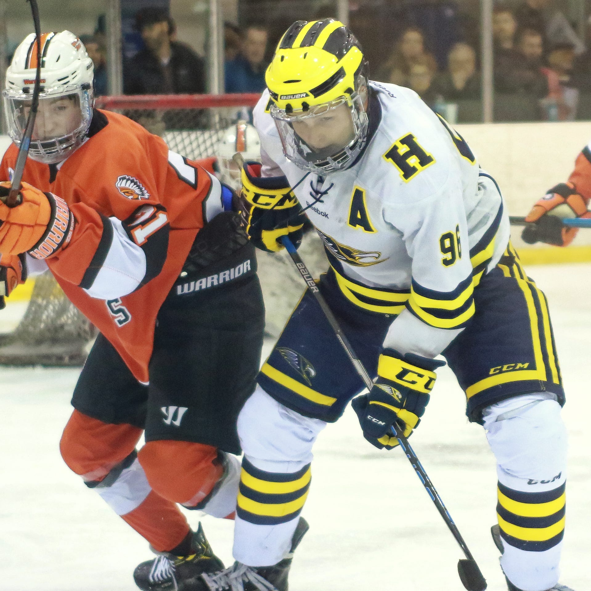 Hartland makes statement with 5-1 hockey win over Brother Rice
