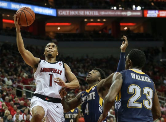 Louisville's Christen Cunningham led the team with 17 points in the Cards' win over Kent State Dec. 15, 2018