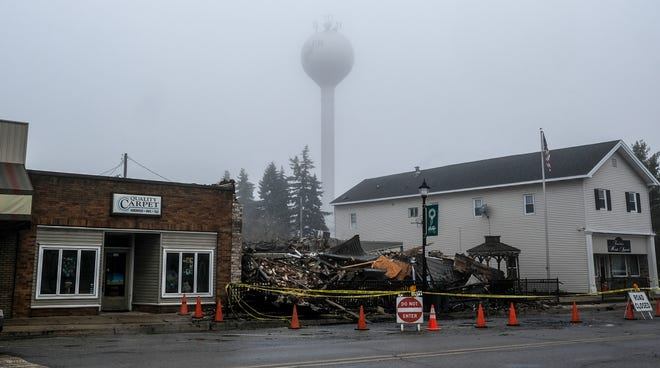 Two buildings in downtown Fowler were destroyed in a fire on Saturday. Photo: Sunday, Dec. 16, 2018.
