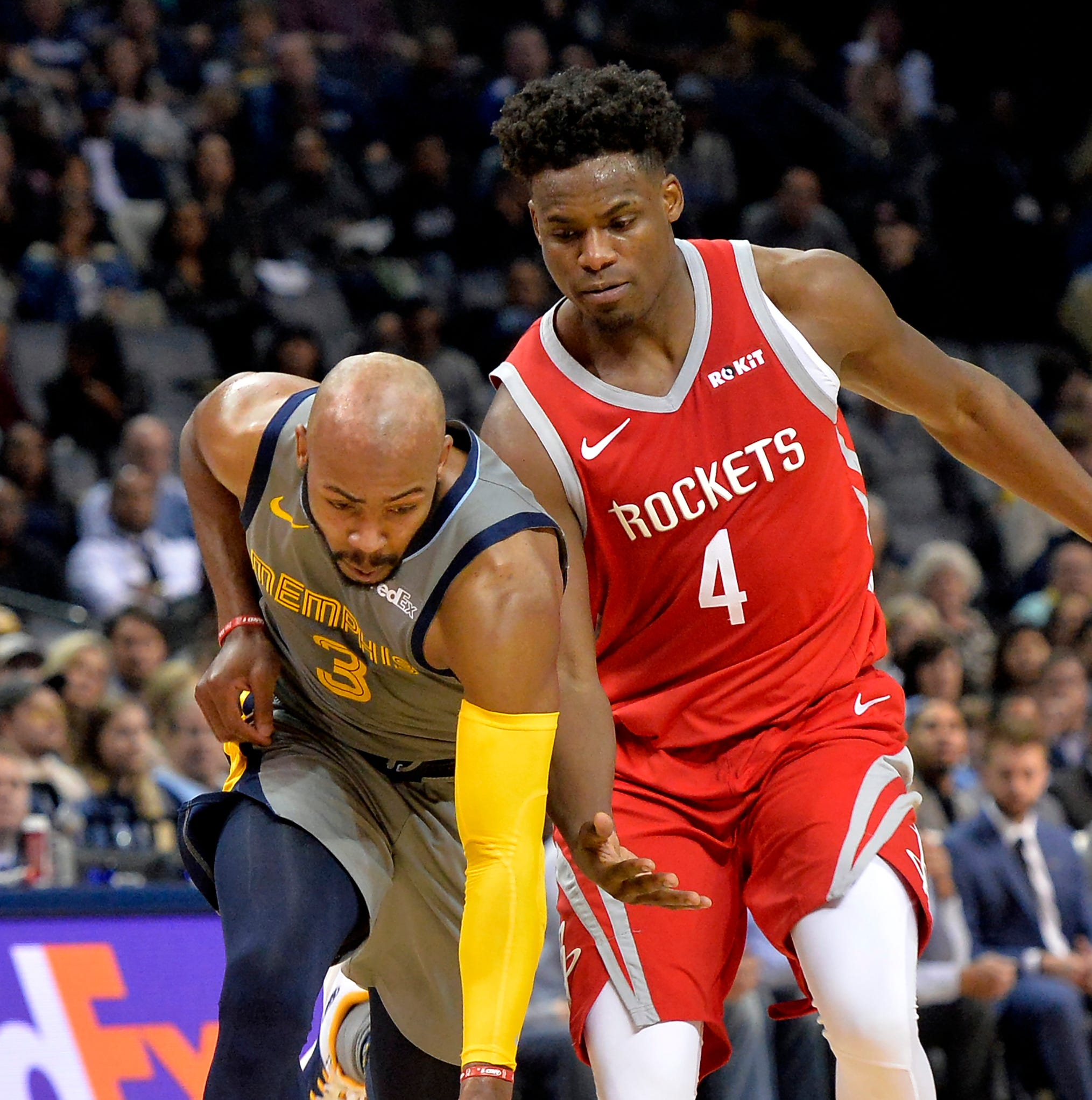 Jevon Carter pesters Chris Paul, James Harden in solid NBA debut for Memphis Grizzlies