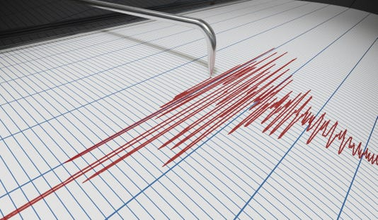 Seismograph For Earthquake Detection Or Lie Detector Is Drawing Chart 3d Rendered Illustration