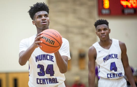 FILE -- Muncie Central's Reggie Bass may decided to attend a prep school. He recently finished his freshman season with the Bearcats.
