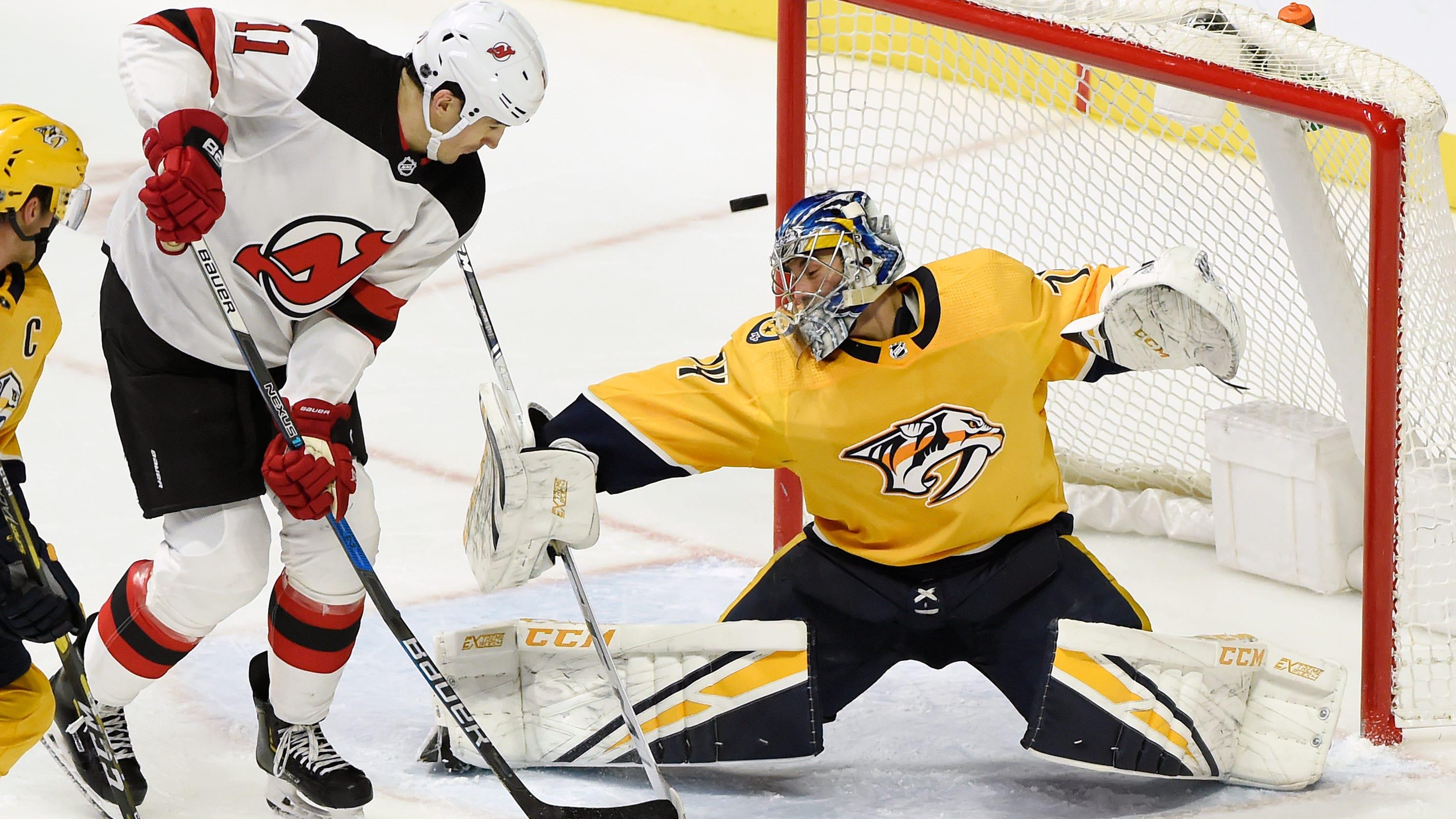 Nashville Predators win overtime shootout vs. New Jersey Devils 546c44475