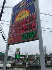 Gas stations at Route 46 and Littleton Road in Parsippany compete with each other on Sunday, Dec. 16, 2018.