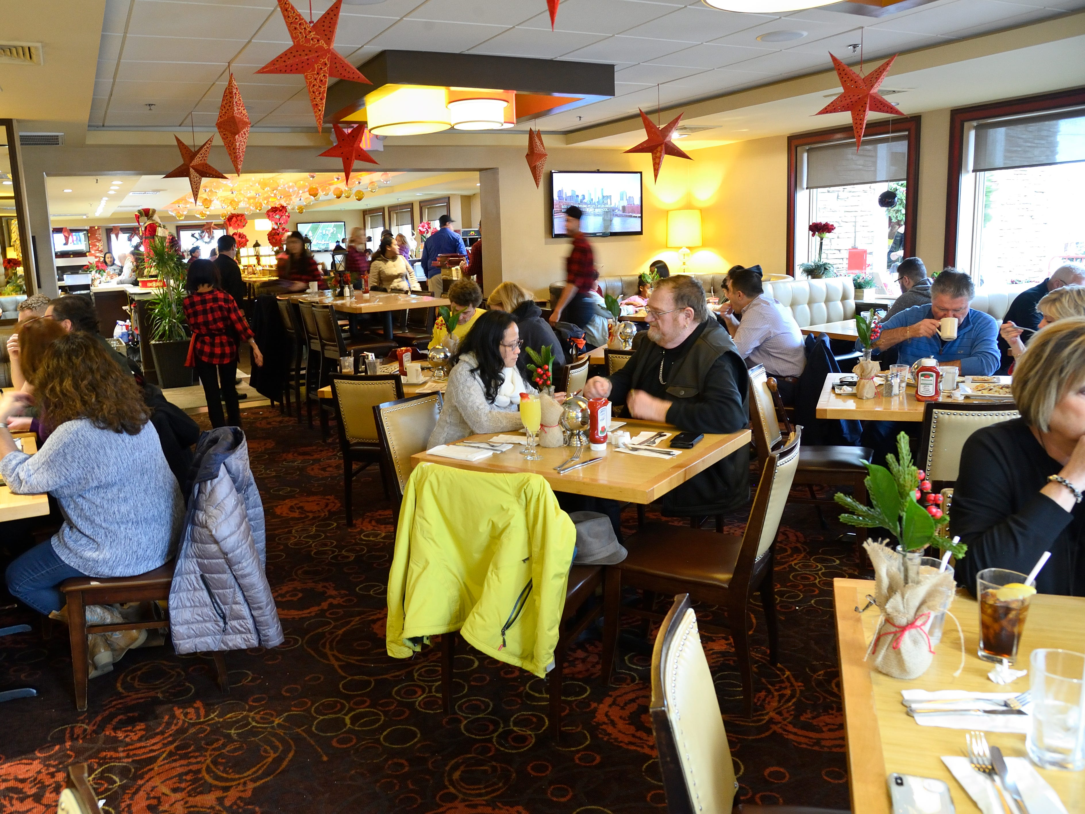 Holiday decorations on display at the Candlewyck Diner in East Rutherford on Saturday, Dec. 15, 2018