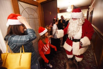 Rutherford Elks Lodge hosts the event of Breakfast With Santa on 12/16/18.