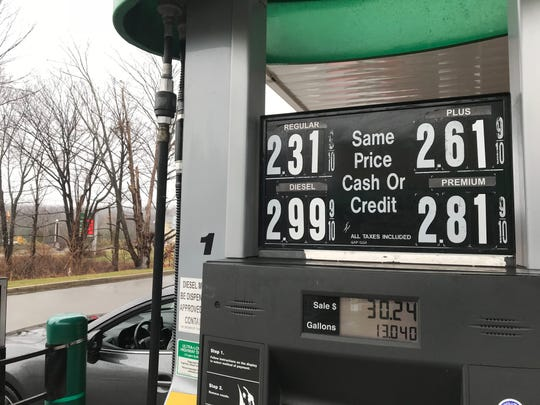 A QuickChek off Route 15 in Jefferson, N.J. featured lower than national average prices on Sunday, Dec. 16, 2018.
