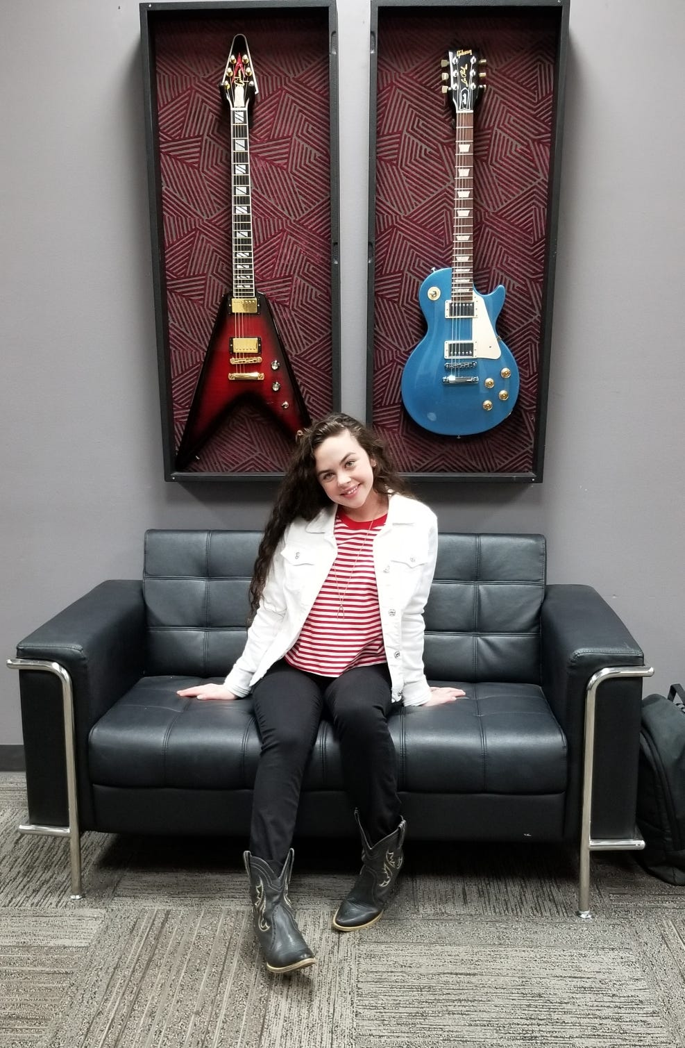 "Contestant Chevel Shepherd, 16, of Farmington has been in California working at ""The Voice"" soundstage in Burbank since early November."