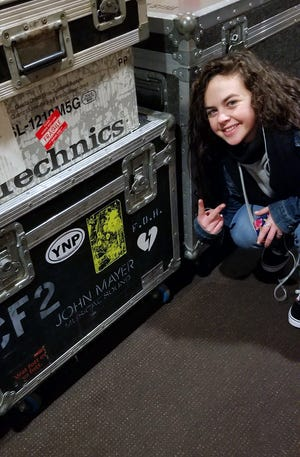 """Chevel Shepherd poses backstage at NBC's """"The Voice"""" soundstage in Burbank, California, in this undated photo."""