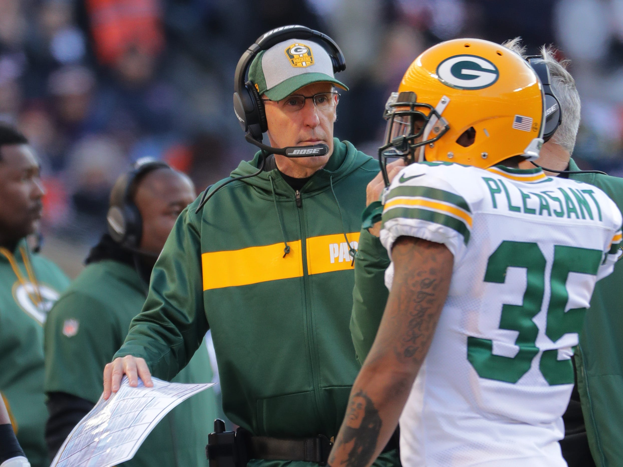 Green Bay Packers head coach Joe Philbin is shown during the fourth quarter of their game against the Chicago Bears Sunday, December 25, 2018 at Soldier Field in Chicago, Ill. The Chicago Bears beat the Green Bay Packers 24-17.  MARK HOFFMAN/MILWAUKEE JOURNAL SENTINEL