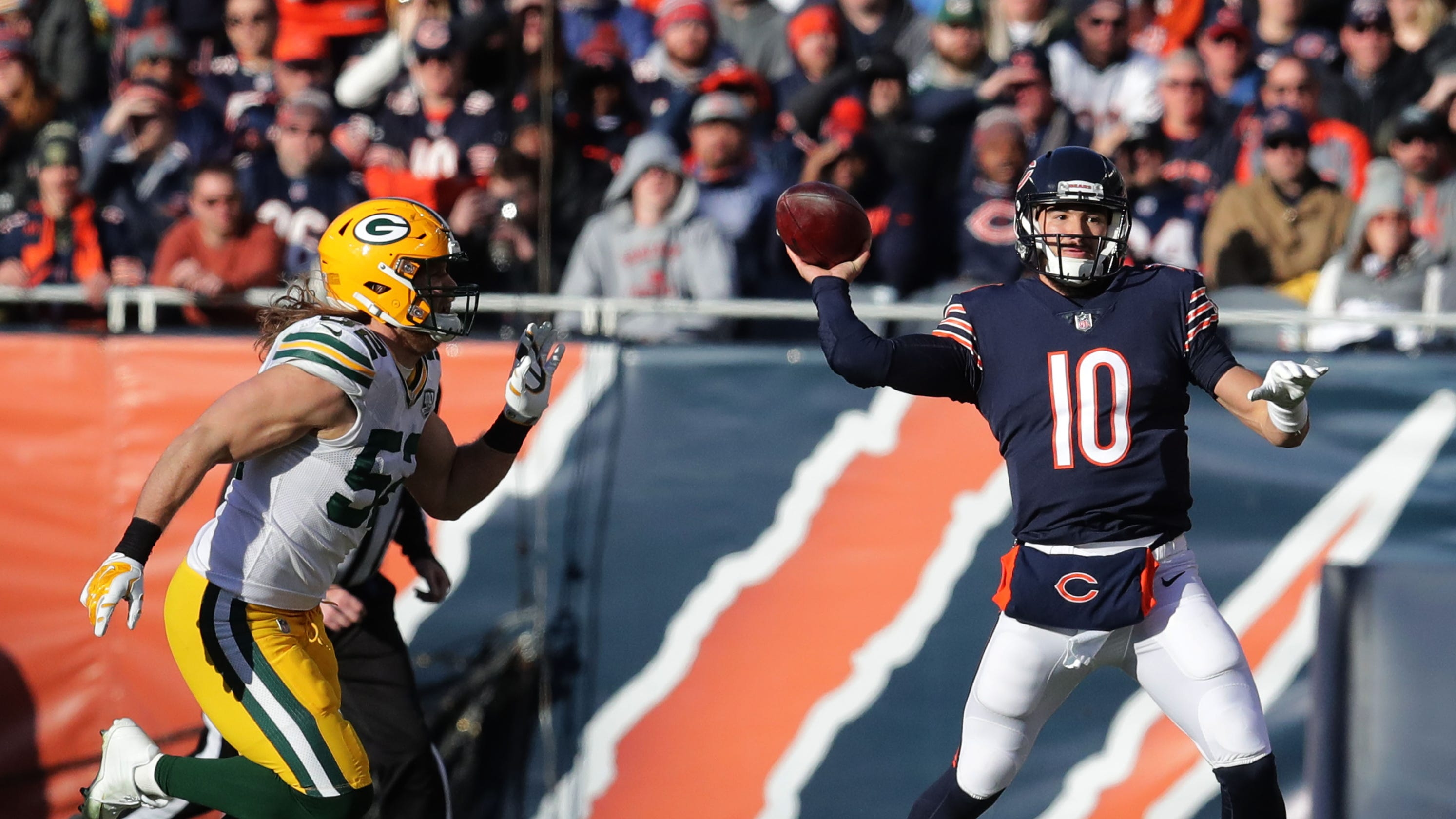 261c77c2e Chicago Bears QB Mitch Trubisky picks apart Green Bay Packers on his terms