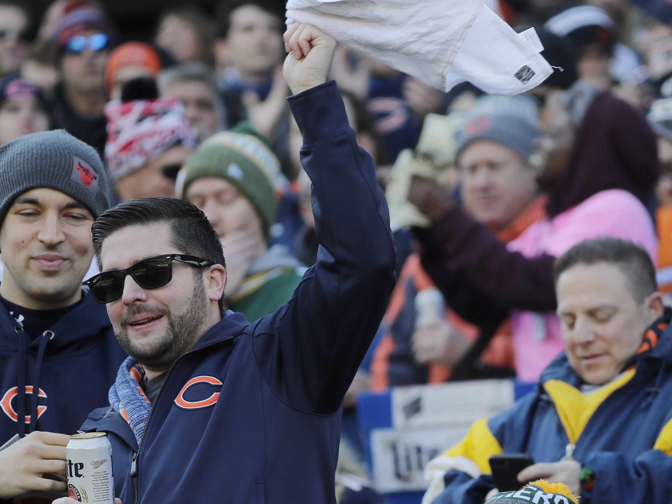 A Green Bay Packers fan watches the Packers lose to the Chicago Bears at Soldier Field on Sunday, December 16, 2018 in Chicago, Illinois. Adam Wesley/USA TODAY NETWORK-Wis