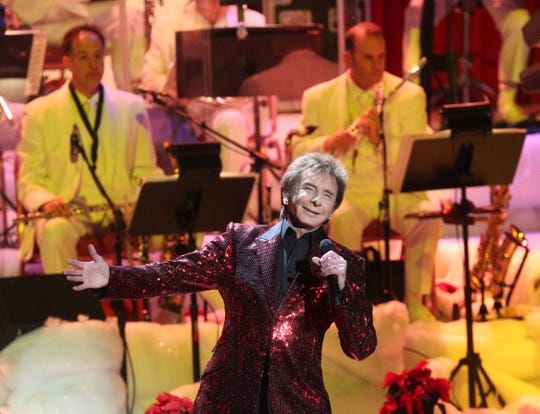 Barry Manilow performs at The Show at the Agua Caliente Casino in Rancho Mirage on Dec. 15, 2018.