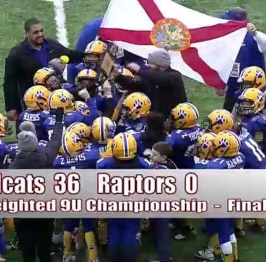 BRING IT ON HOME: NEP Wildcats 9-U youth football team wins national championship