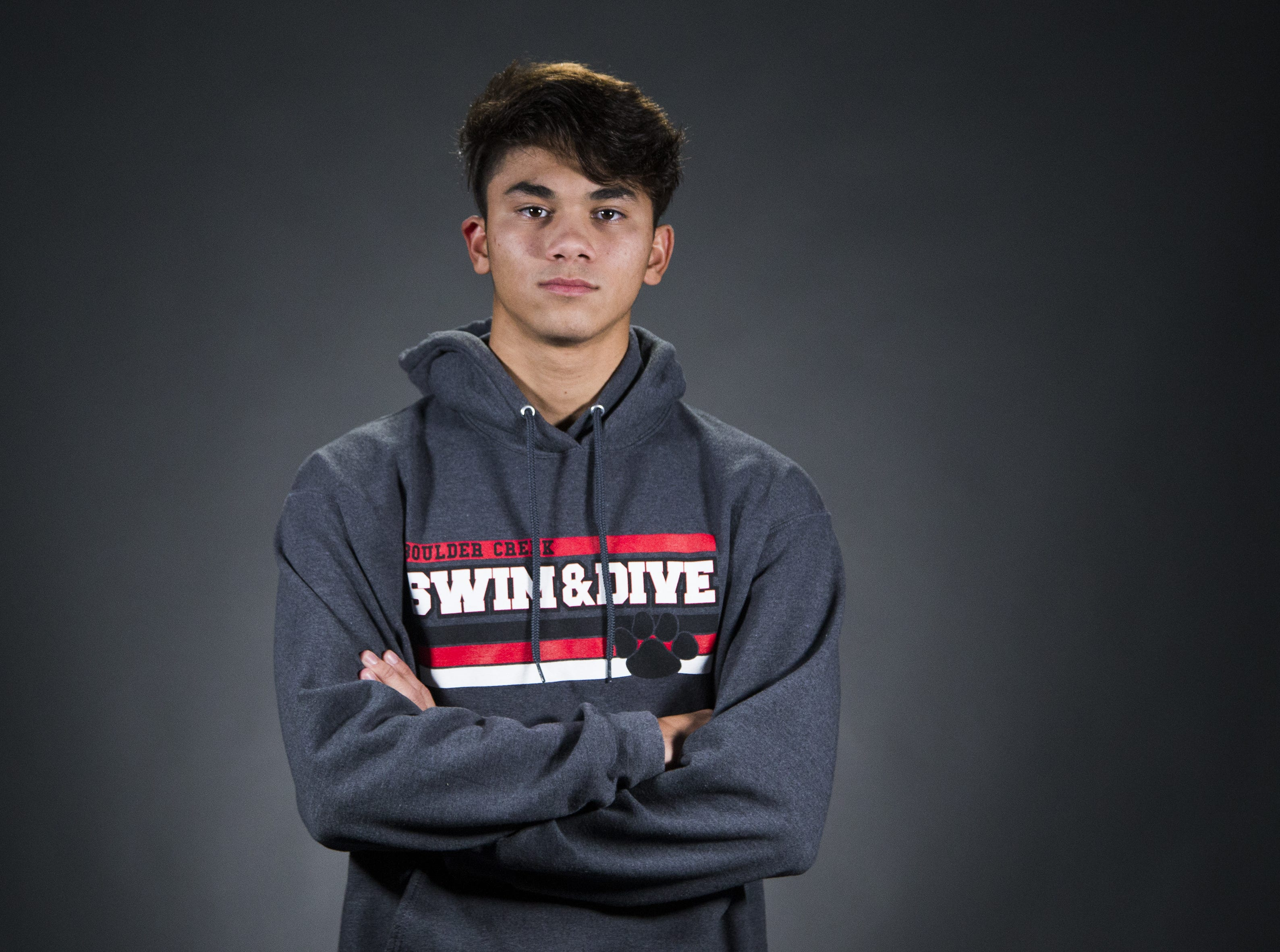 JonCarlo LoVullo of Boulder Creek High School is a finalist for the azcentral Sports Awards Boys Swimmer of the Year.  #azcsportsawards