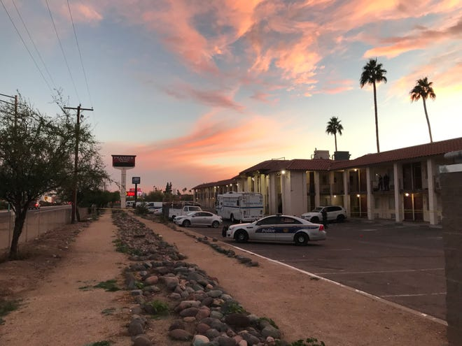Phoenix police are investigating the fatal shooting of a man Dec. 15, 2018, at the Premier Inns Metro Center on Black Canyon Highway, near Interstate 17 and Peoria Avenue.