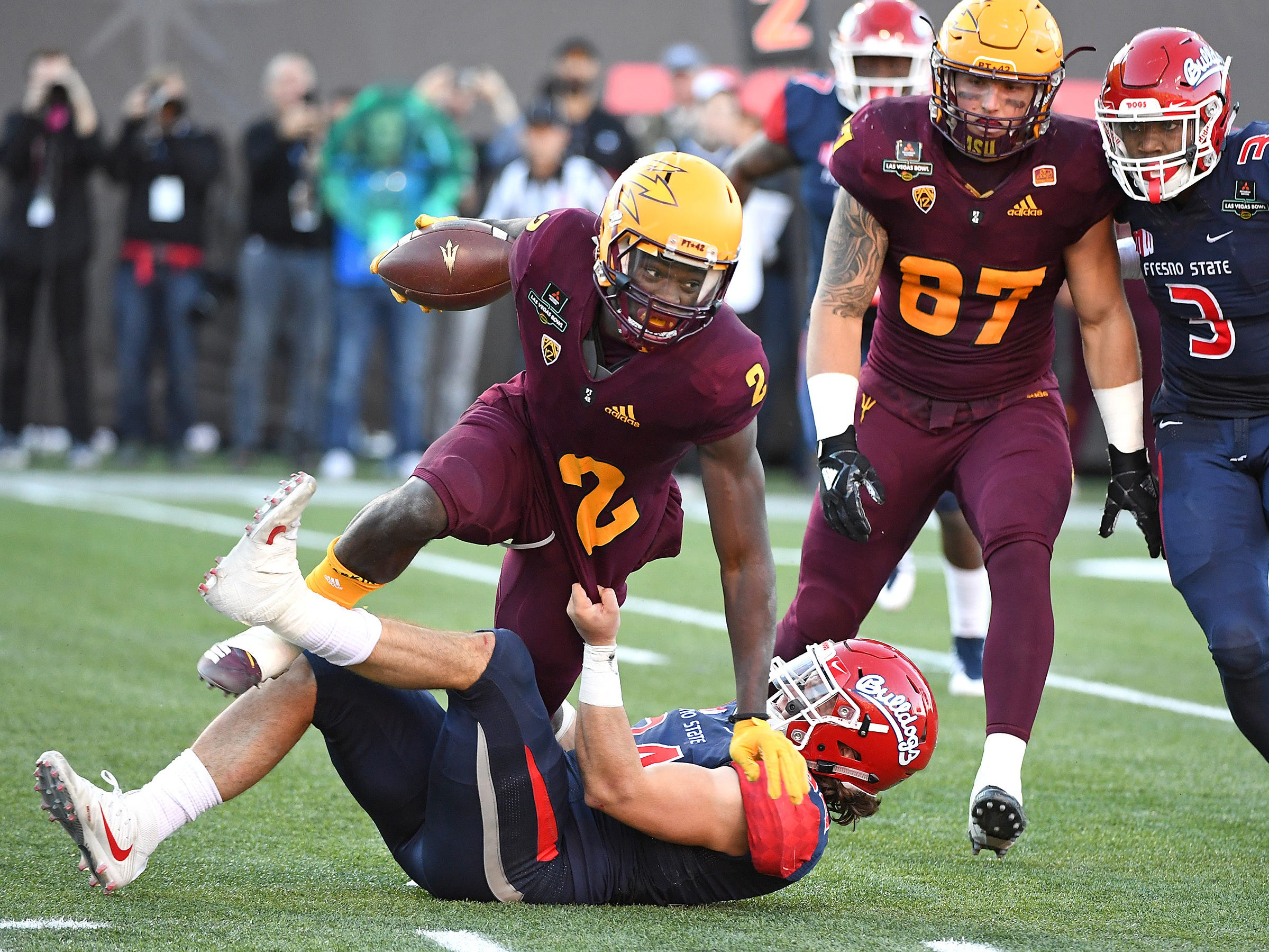 Brandon Aiyuk's performance in place of N'Keal Harry the Las Vegas Bowl was encouraging, ASU head coach Herm Edwards said.