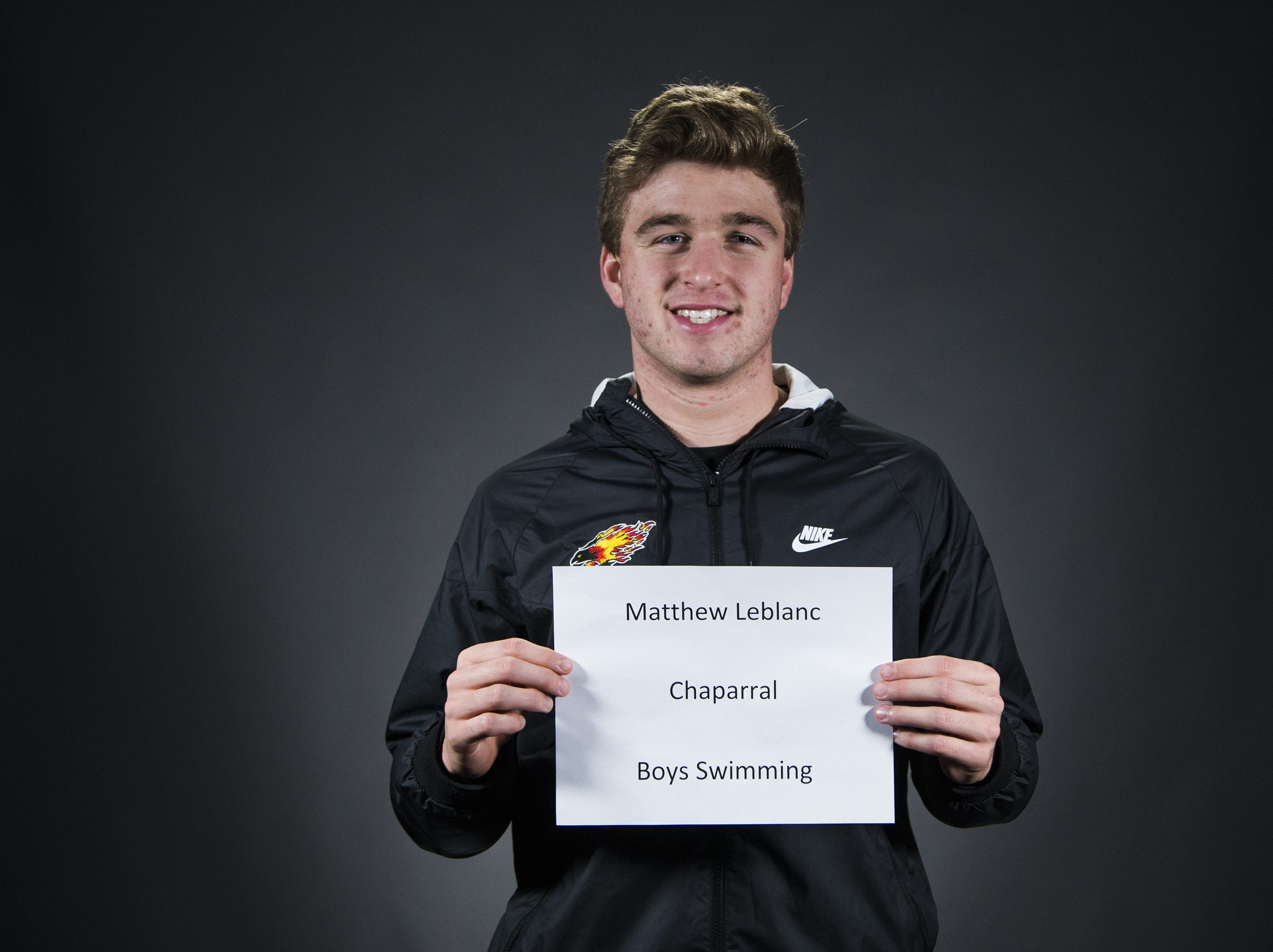 Matthew Leblanc of Chaparral High School is a finalist for the azcentral Sports Awards Boys Swimmer of the Year.  #azcsportsawards