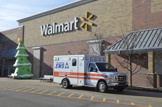 Tri-Hospital EMS hosted a Shop with a Hero event at Walmart on Sunday, Dec. 16, 2018, in Fort Gratiot, Michigan.