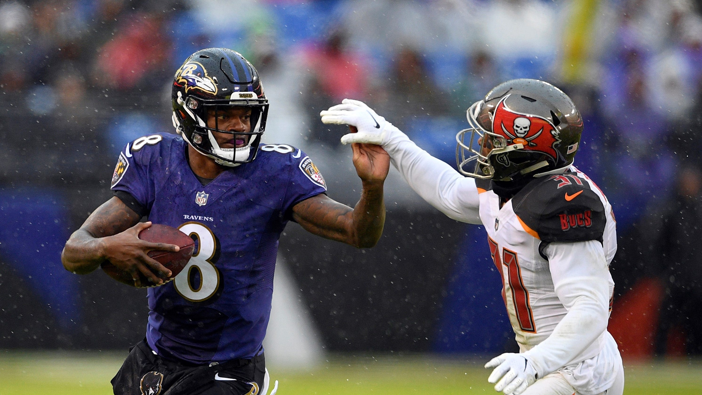 Baltimore Ravens  Lamar Jackson to Ray Lewis   I want to be the (Tom)  Brady  of Baltimore dd0202331