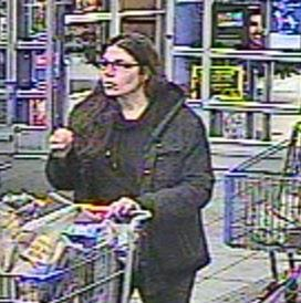 Glasses-wearing woman wanted by police in a case of vandalism at the Springettsbury Township Walmart.