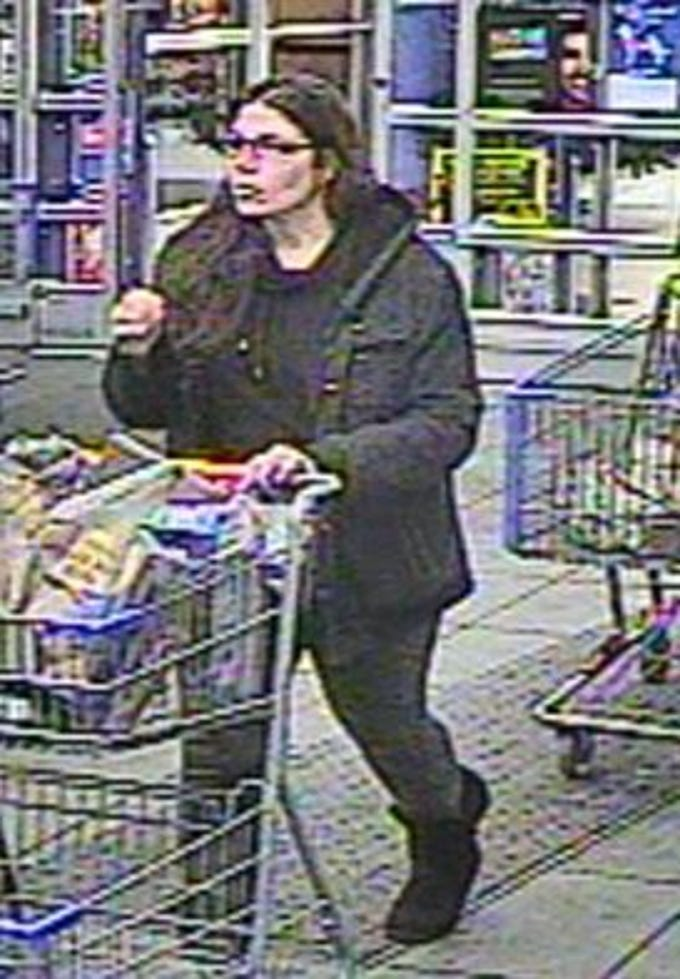 This glasses-wearing woman wanted by police in a case of vandalism at the Springettsbury Township Walmart.