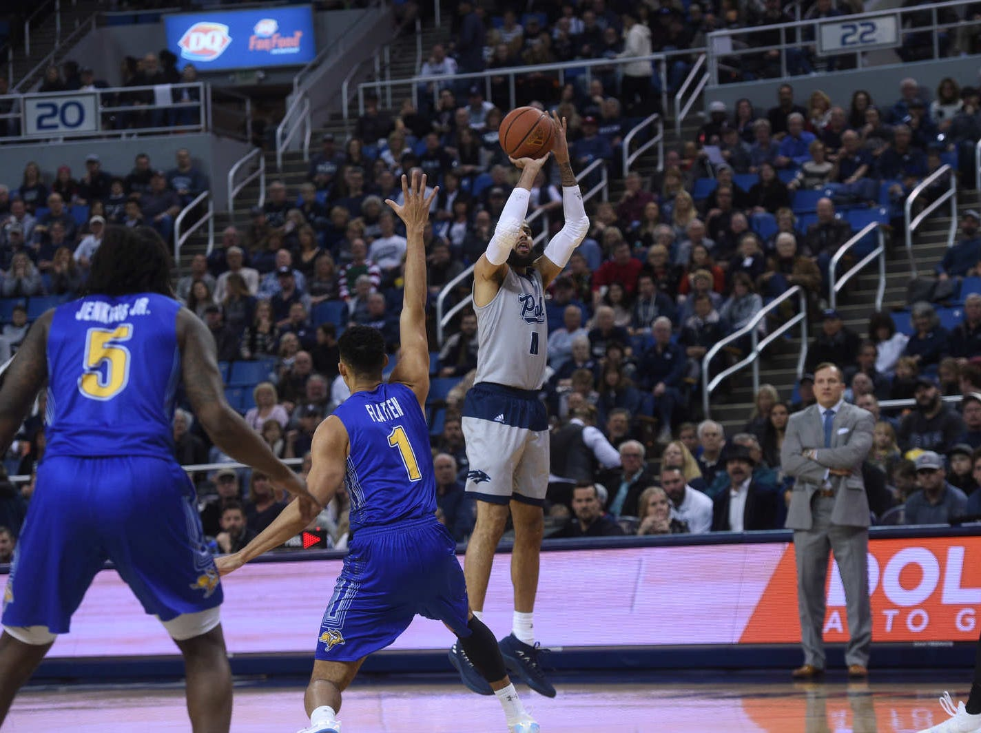 Nevada takes on South Dakota State during their basketball game at Lawlor Events Center in Reno on Dec. 15, 2018.