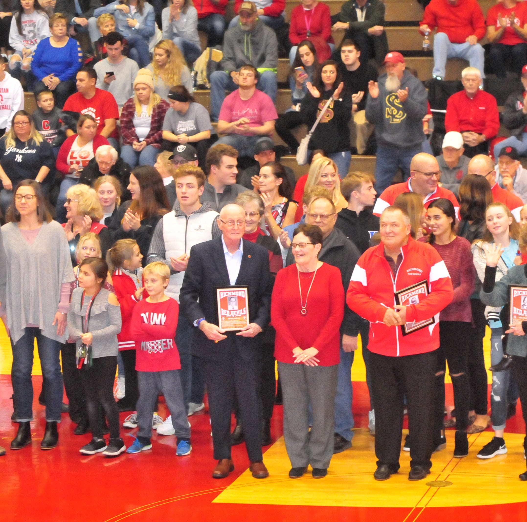 7 inducted into Richmond Coaches Hall of Fame during Connersville game