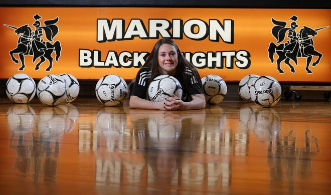 Marion's Chloe DeLyser scored a state record 79 goals last fall while setting the Section V and state records for career goals.