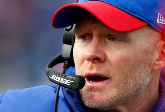 Buffalo Bills head coach Sean McDermott watches the second half of an NFL football game against the Detroit Lions, Sunday, Dec. 16, 2018, in Orchard Park, N.Y.
