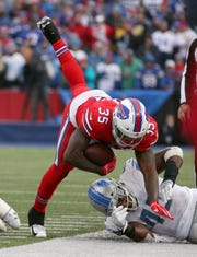 Bills running back Keith Ford gained 46 yards in a 14-13 win over Detroit.