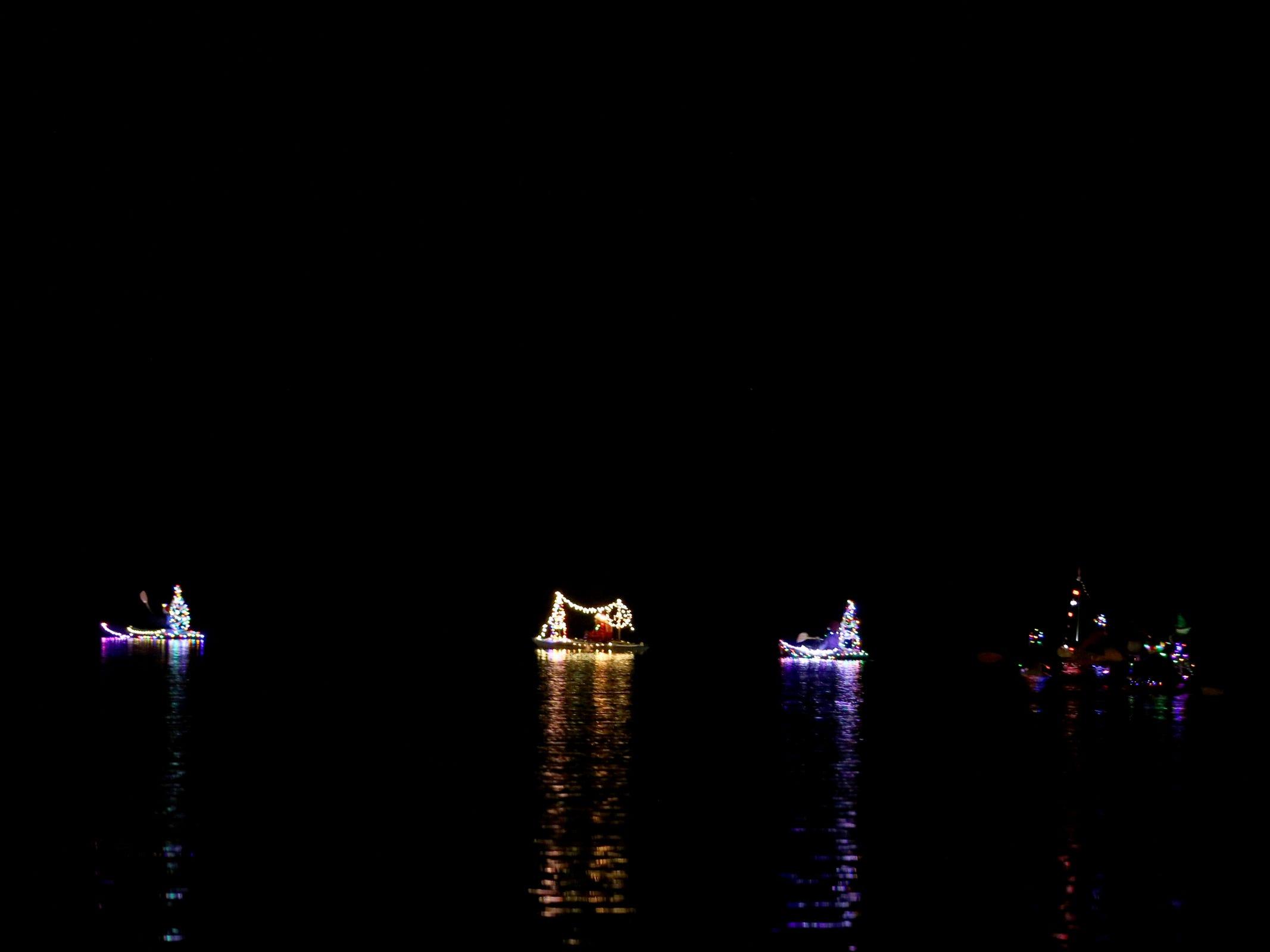 The 14th annual Winter Solstice Illuminata Regatta on the Willamette River at Riverfront Park in Salem on Saturday, Dec. 15, 2018.