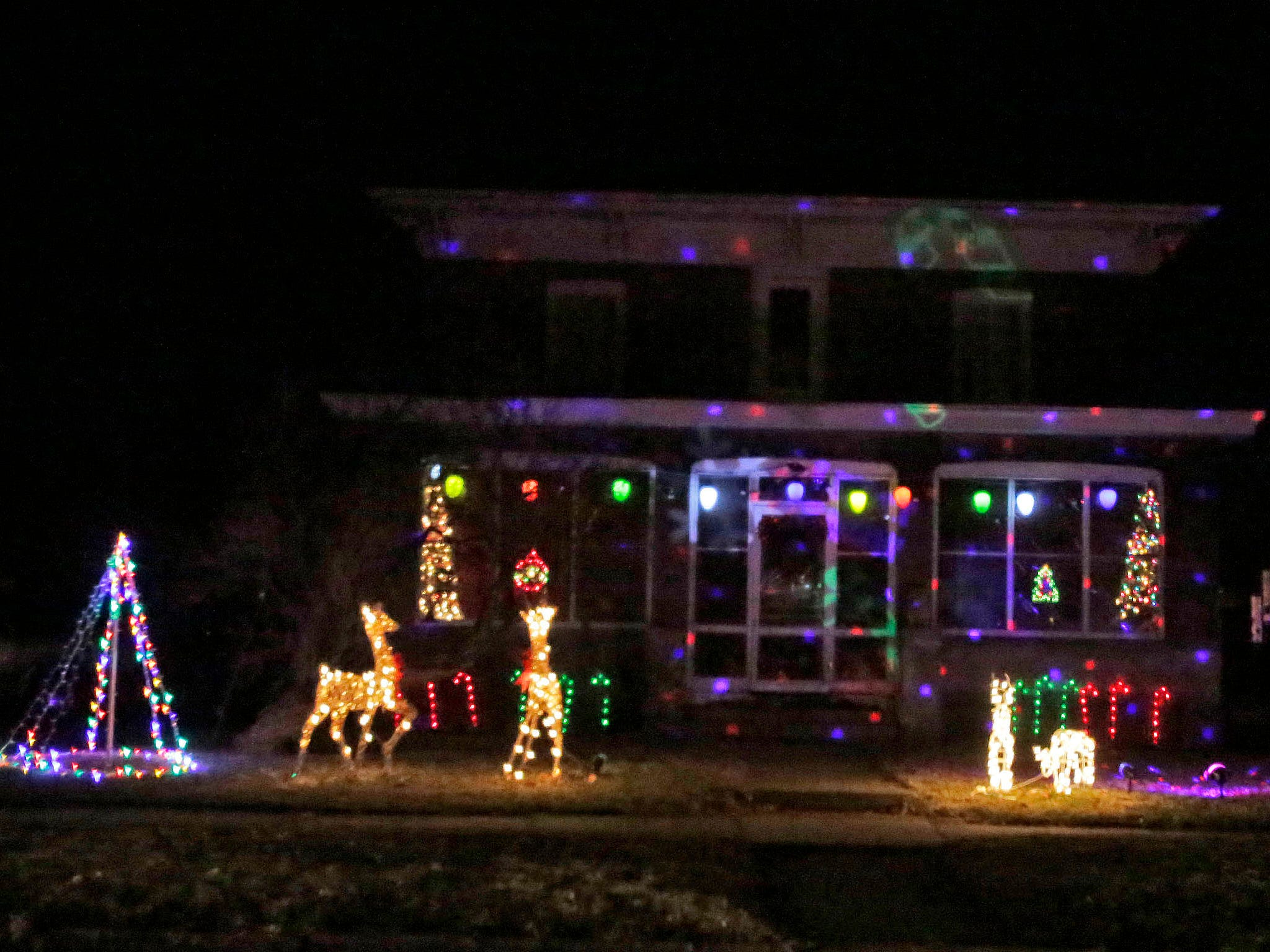 A Christmas display Saturday, December 15, 2108, in Plymouth, Wis.