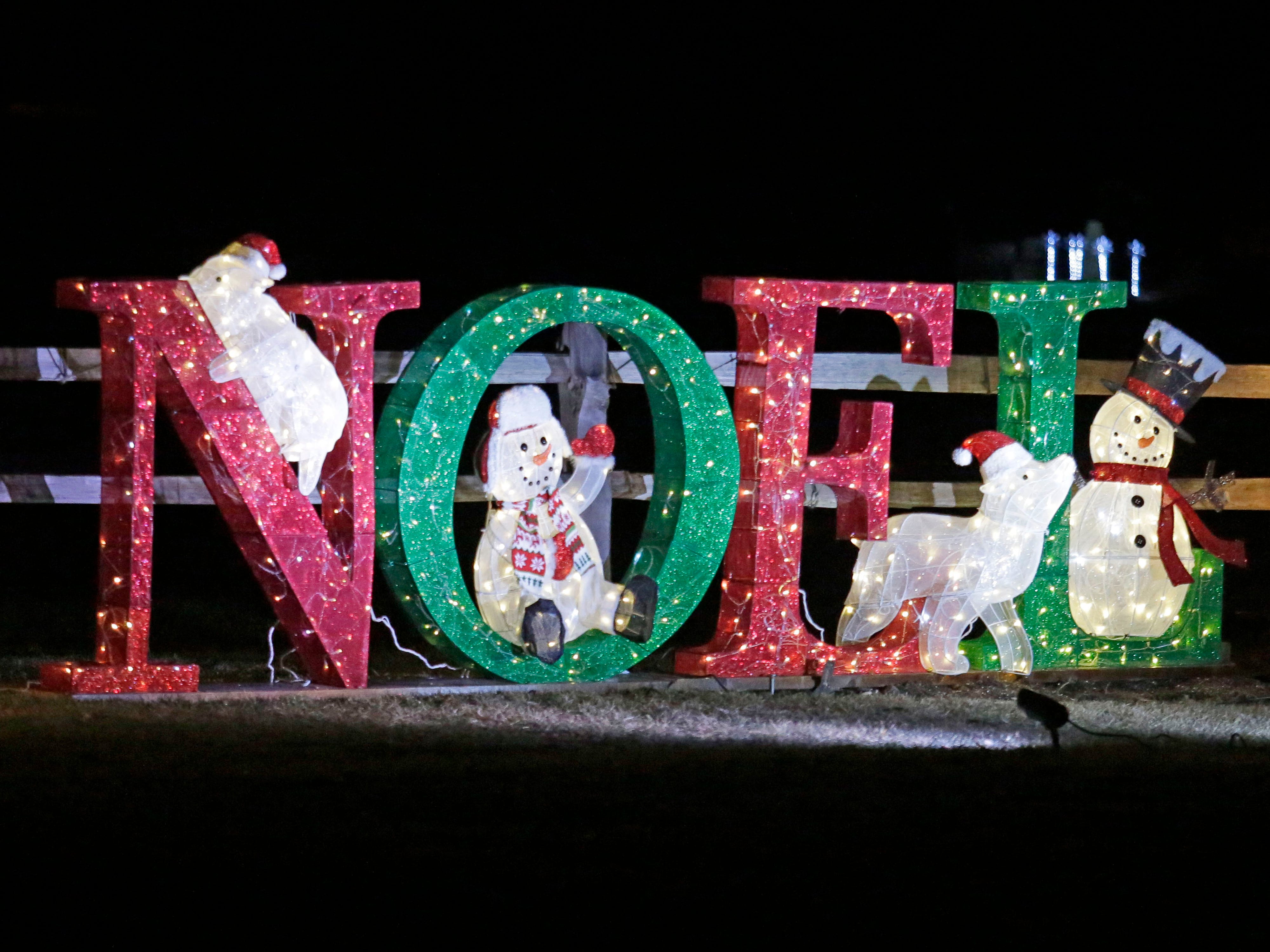 A whimsical Noel sign along state Highway 57, Saturday, December 15, 2108, in Waldo, Wis.