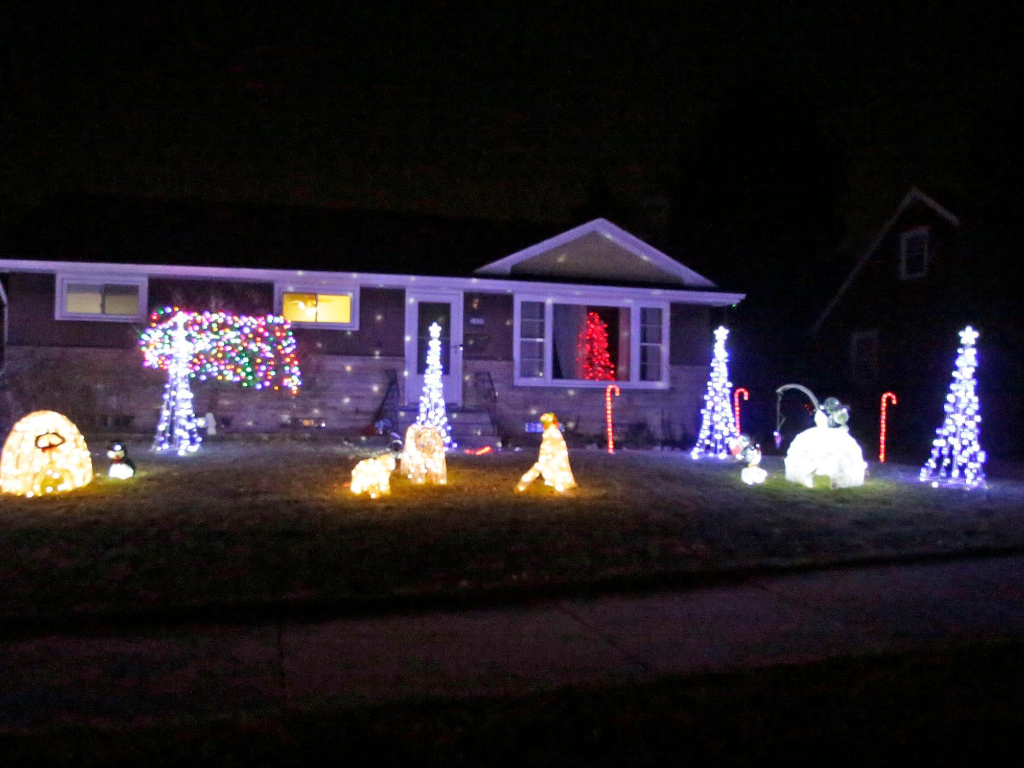 A Christmas display near Evans Avenue, Saturday, December 15, 2108, in Sheboygan, Wis.