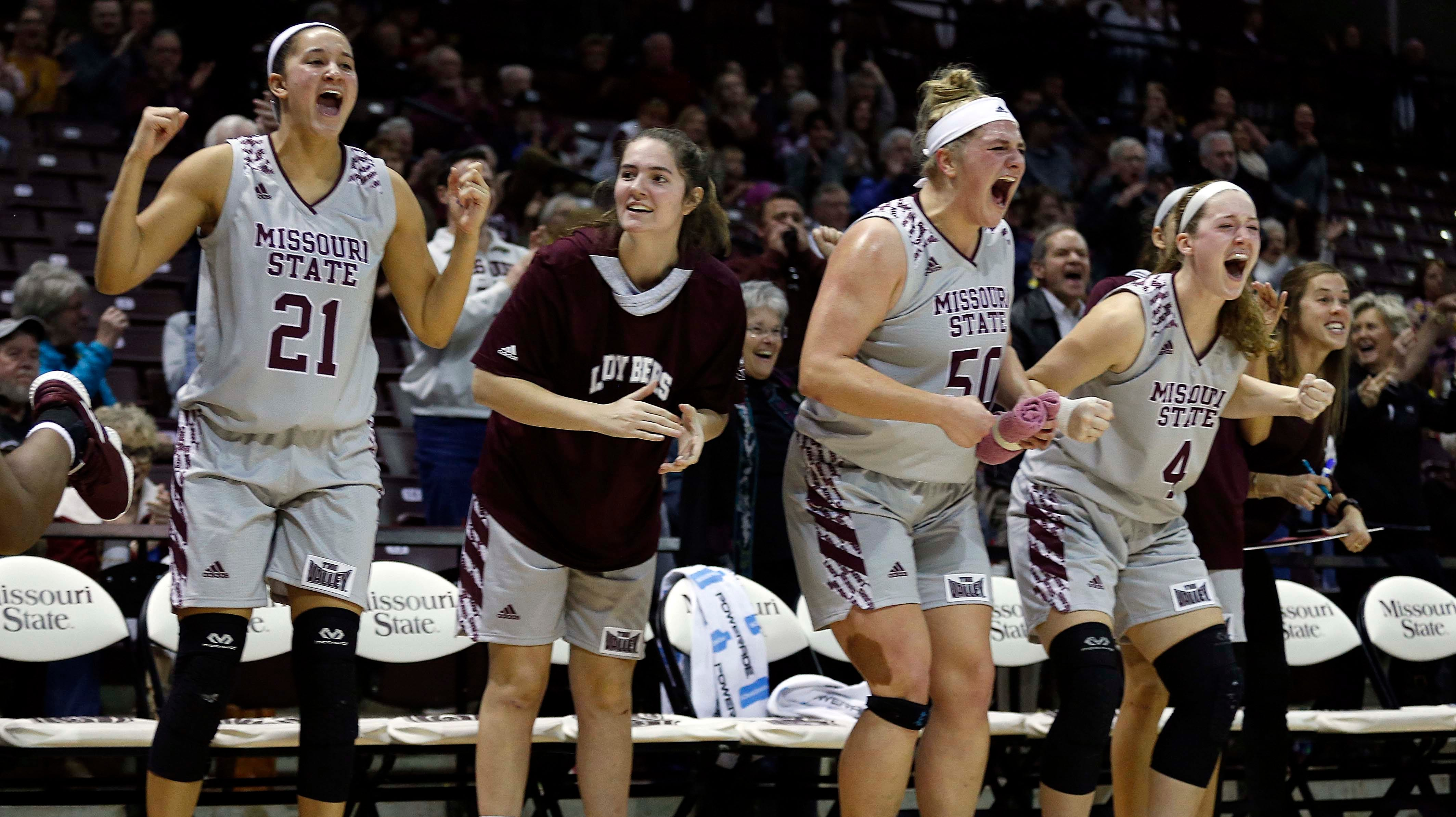 The MSU Lady Bears against Gonzaga at JQH Arena in Springfield on December 16, 2018.