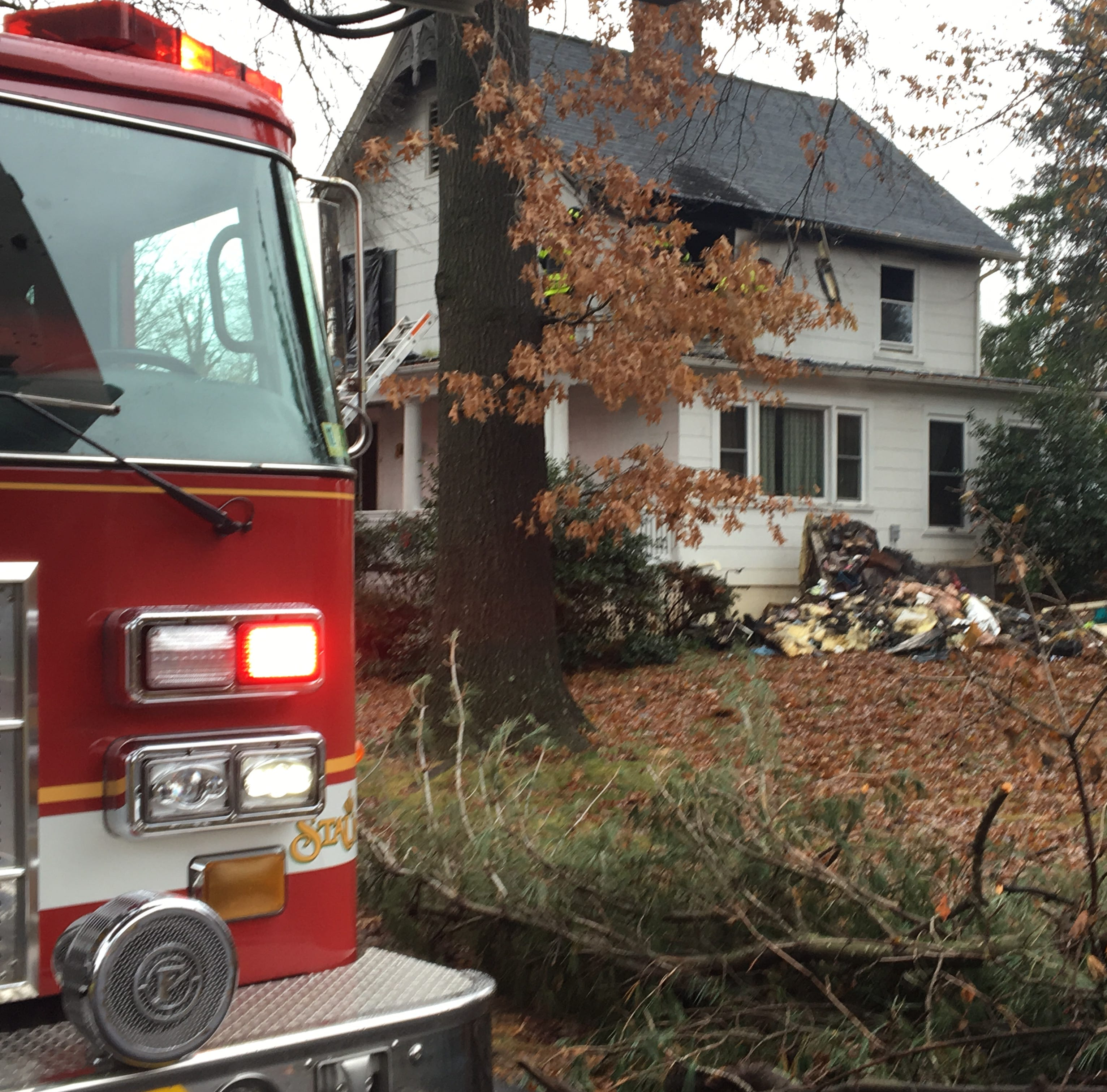 Three fire trucks were dispatched to the Hook Lane home Sunday morning.