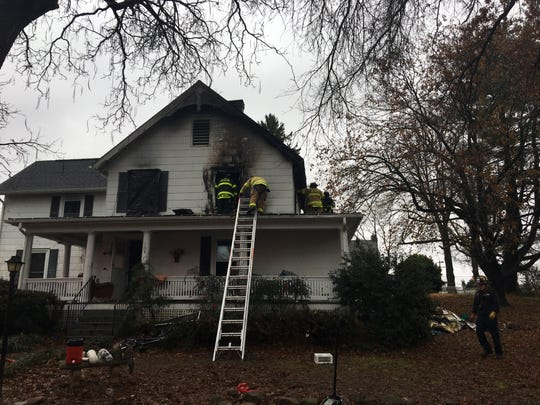 A family lost one of its cats in a Sunday morning fire on Hook Lane.