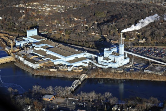 The Verso paper mill in Sartell is shown in this aerial image before the 2012 explosion and fire.